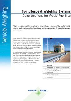 Livre blanc: conformité et systèmes de pesage, réflexion autour des centres de tri