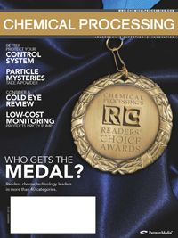 METTLER TOLEDO Wins 2012 Chemical Processing Readers' Choice Award for Weighing Systems