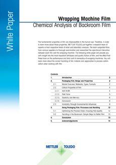 White Paper zur Folie im Vorbereitungsraum