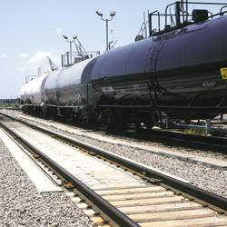 Kolejové váhy k vážení stojících vagónů