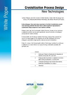 Livre blanc METTLER TOLEDO : conception du procédé de cristallisation