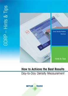 Density Measurement Guide - How to Achieve the Best Results in Day-to-Day Density Measurement