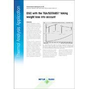 dsc with the tga sdta851e taking weight loss into account mettler