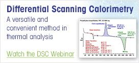 Differential Scanning Calorimetry (DSC) Webinar