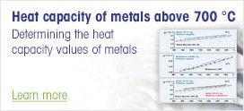 Heat capacity determination of metals above 700 °C