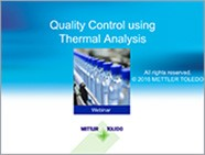 Quality Control using Thermal Analysis Webinar
