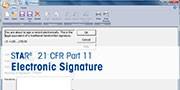 Unterzeichnung elektronischer Aufzeichnungen in der STARe-Software