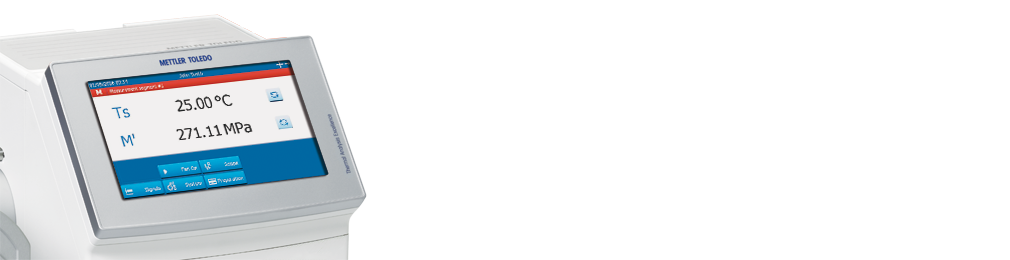 Touchscreen eines dynamisch-mechanischen Analysators