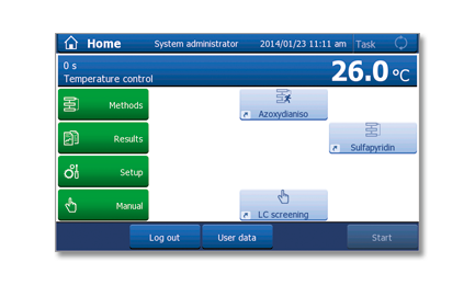 One Click - interfejs użytkownika