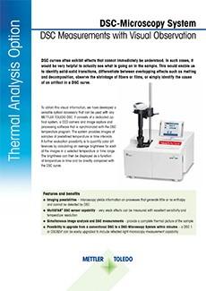 DSC-Microscopy System Datasheet