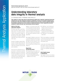 Data integrity in thermal analysis