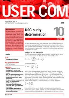 Thermal Analysis UserCom 10