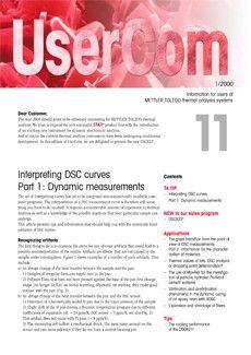 Thermal Analysis UserCom 11
