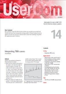 Thermal Analysis UserCom 14