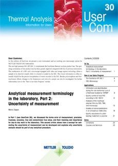 Thermal Analysis UserCom 30