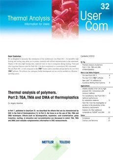 Thermal Analysis UserCom 32