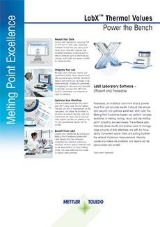 LabX™ Thermal Values - Laboratory Software for Melting Point Excellence Systems