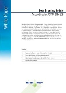 Low Bromine Index according to ASTM D1492