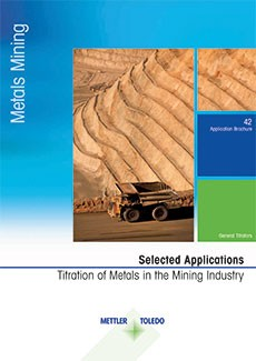 This collection of titration analyses for metal content determination represents a comprehensive reference manual for the main applications in the mining industry.