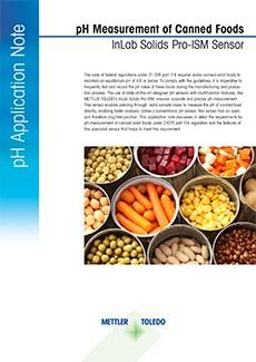 pH-Messung in Lebensmittelkonserven