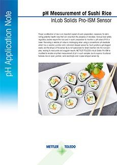 pH of sushi rice
