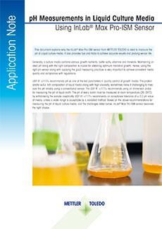 pH of liquid culture media