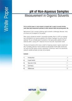 pH des solvants organiques