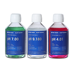 Tampons pH de calibrage METTLER TOLEDO conformes et traçables