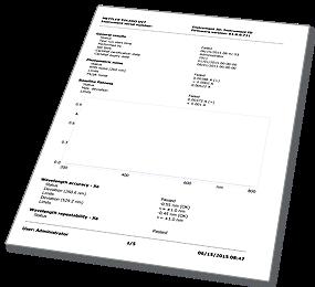 Vérification des performances UV/VIS