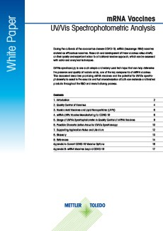 UV Vis mRNA vaccine research