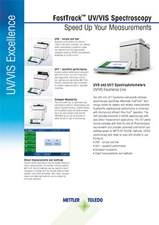 UV/Vis Excellence Datasheet