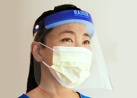 face shield from Rainin