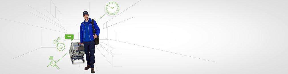 Tiempo de actividad: asistencia técnica y reparación