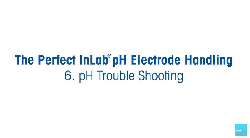Manuseio do eletrodo de pH - resolução de problemas
