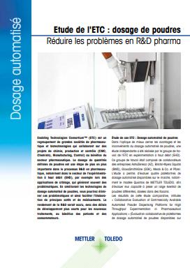 Distribution automatisée de poudres pour les applications pharmaceutiques et biotechnologiques