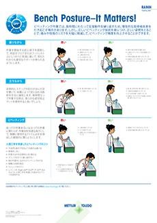 Bench Posture – It Matters!ポスター(日本語版)