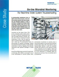 On-line microbial monitoring