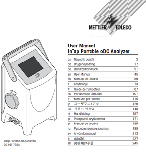 Operation Manual for InTap Portable oDO Analyzer