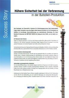Success Story: Höhere Sicherheit bei der Verbrennung in der Butadien-Produktion