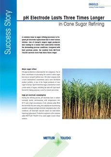pH Electrode Lasts Three Times Longer in Cane Sugar Refining