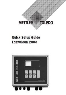 Quick Setup Guide: EasyClean 200e