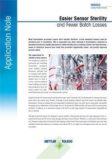 应用说明-更轻松的传感器灭菌和更少的批次损失