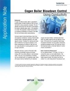 Cogen Boiler Blowdown Control Using Conductivity