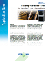 Application Note: Monitoring Chloride and Sulfate for Corrosion Control in Power Plants