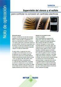 Nota de aplicación: Supervisión del cloruro y el sulfato para el control de la corrosión en centrales eléctricas