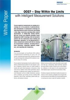 OOS? – Stay Within the Limits with Intelligent Measurement Solutions