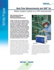 Water System Quality Control in a PAT Environment