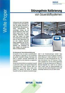 Tragbares Messgerät zur Bestimmung von gelöstem Sauerstoff für die Inline-Sensorkalibrierung