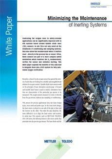 This white paper explains how TDL O₂ sensor can minimize inerting system maintenance & to integrate them into a DCS system for fully automated oxygen verification.