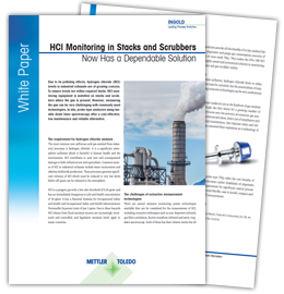 White Paper: HCl Monitoring in Stacks and Scrubbers Now Has a Dependable Solution